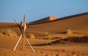pasir,panas, langit biru, kayu, batu, gurun pasir