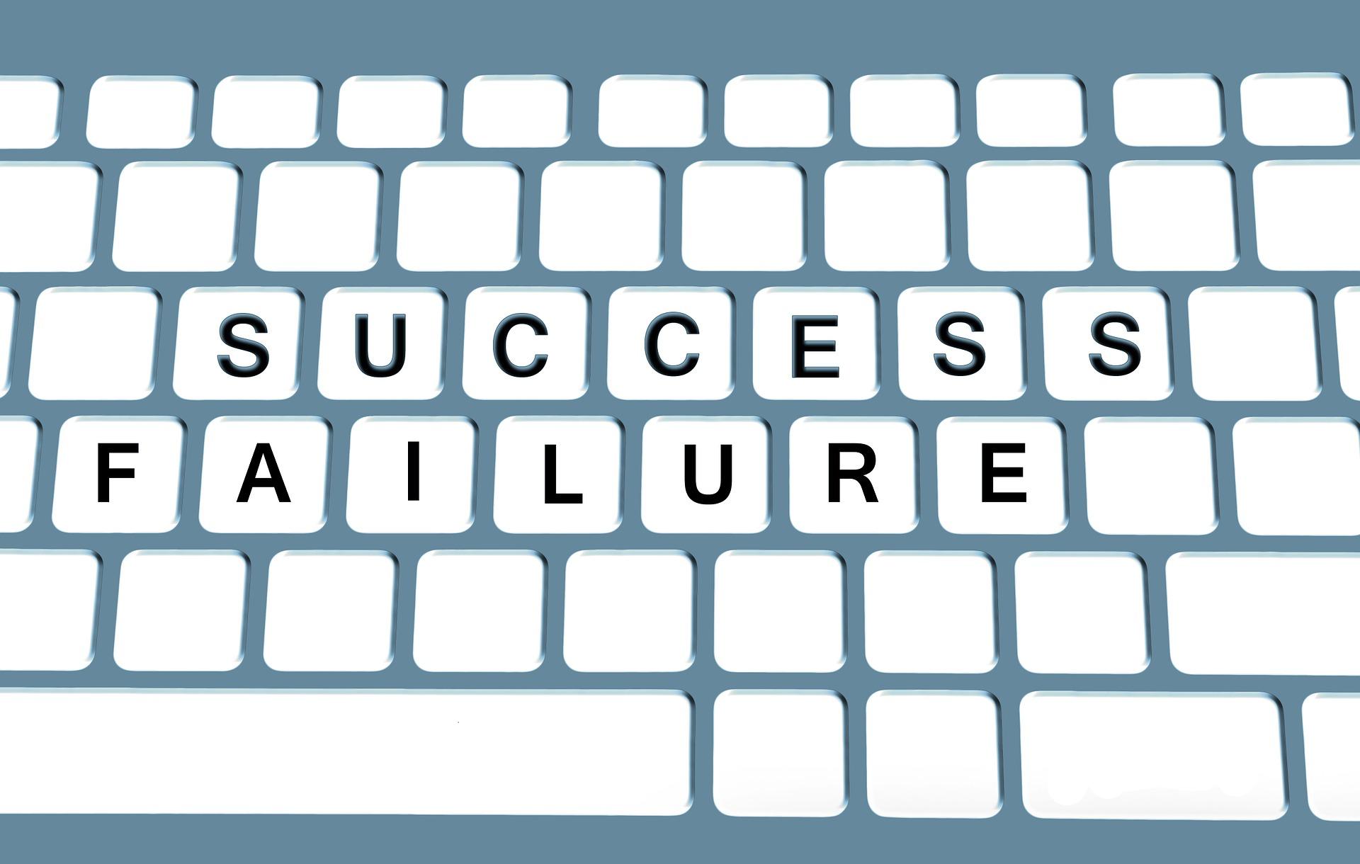 keybord, kegagalan dalam kesuksesan