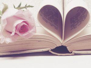 bunga, buku, kertas