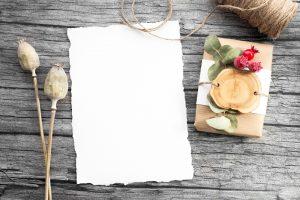 kertas,bunga,undangan,pensil, latar belakan