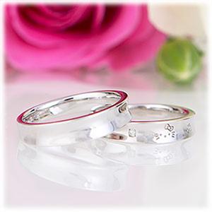 2 cincin, bunga, daun