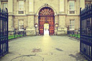 bangunan tua, gerbang, lampu, dinding