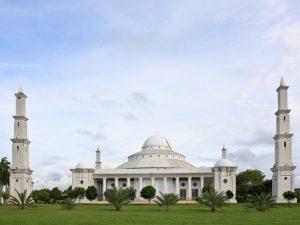 pohon,taman,masjid, kubah
