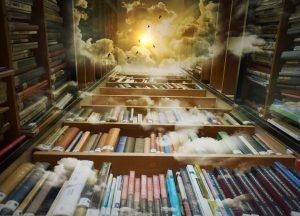 buku, informasi, rak, jendela dunia