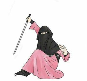 Gambar kartun muslimah berhijab, berniqob, gambar kartun muslimah keren, gambar kartun muslimah imut, gambar kartun muslimah anggun, gambar kartun muslimah cantikh